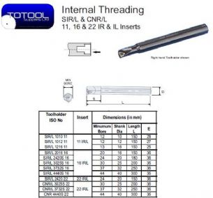 SIL 2420 22 Internal Threading Toolholder